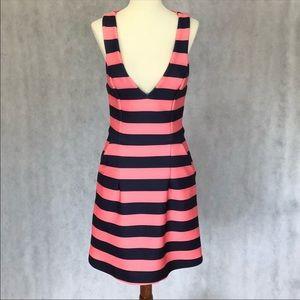 Kookai Bahama Stripe Sleeveless Scuba Knit Dress